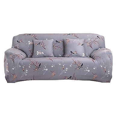 Funda elástica para sofá de 1 2 3 4 plazas, cubierta antideslizante en tejido elástico extensible, protector de sofá