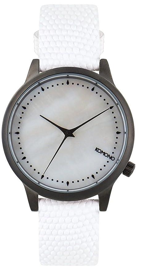Komono Reloj de Mujer de Cuarzo con Madre de Pearl Esfera Analógica Pantalla y Correa de