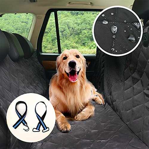 Back Seat Covers for Dogs,Pet Dog Seat Covers for Cars Trucks and SUVs for All Kinds of Dogs,600D Durable Oxford&100% Waterproof TPU&Rubber Non-Slip Net&Hammock Review
