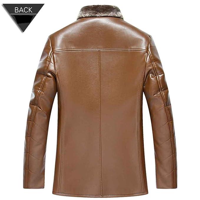 Chaqueta de piel de invierno de los hombres Abrigo de piel de moda casual Abrigo para hombres, champagne, xl/180: Amazon.es: Ropa y accesorios