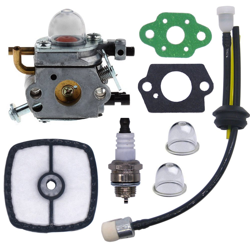 FitBest Carburetor with Fuel Line Kit Air Filter for C1U-K78 Echo PB200 PB-200 PB-201 PB201 ES-210 A021000941 A021000942 Power Blower