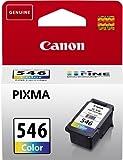 Canon CL-546 - Cartucho de tinta para impresoras (Cian, Magenta, Amarillo, 9 ml, 180 páginas, Ampolla)