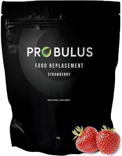 MEAL REPLACEMENT de Probulus: BATIDO PROTEICO sustitutivo de comida para ADELGAZAR. Sabor a fresa