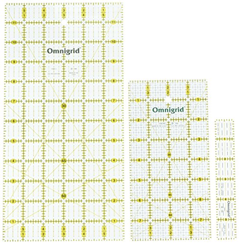 Omnigrid Cutting Mats - Omnigrid Ruler Value Pack, 3 Sizes: R1, R12, R48G