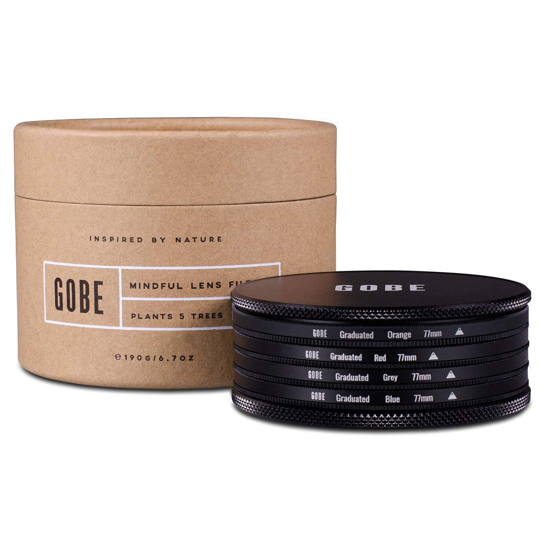 Gobe Graduated Color 77mm Filters: Orange, Blue, Grey, Red