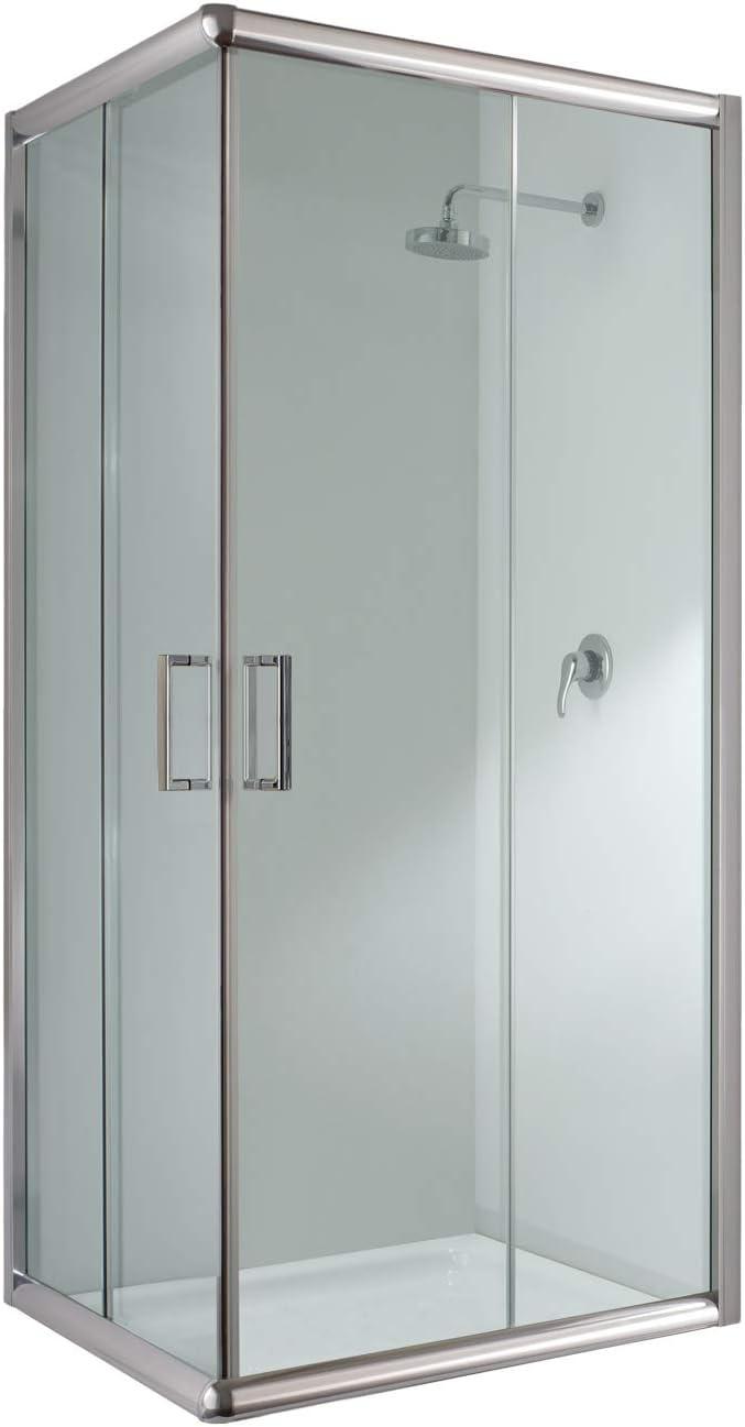 Cabina de ducha rectangular de 70 x 100 x 198 cm de altura, cristal transparente de 6 mm: Amazon.es: Bricolaje y herramientas