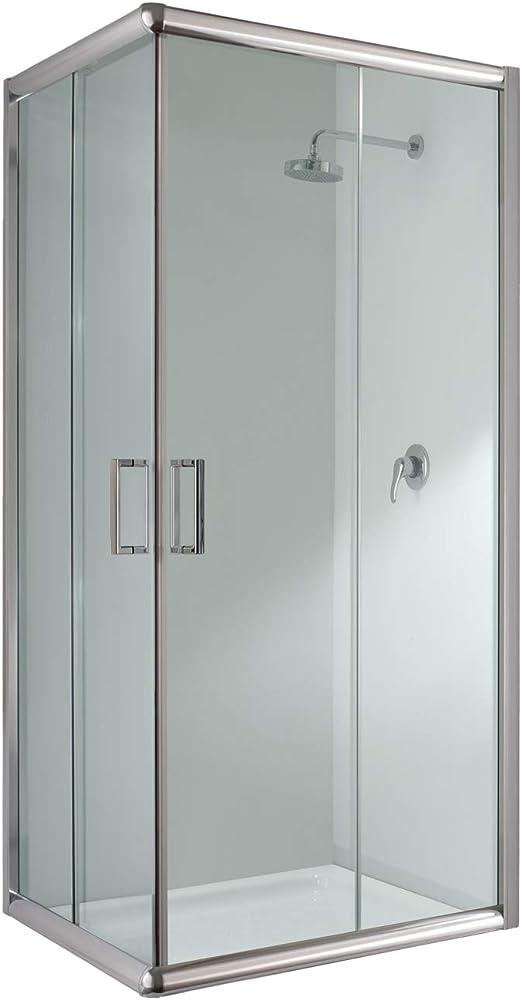 Cabina de ducha rectangular de 70 x 90 x 198 cm de altura, cristal transparente de 6 mm: Amazon.es: Bricolaje y herramientas