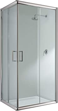 Cabina de ducha rectangular, 70 x 90 x 198 cm, transparente, 6 mm ...
