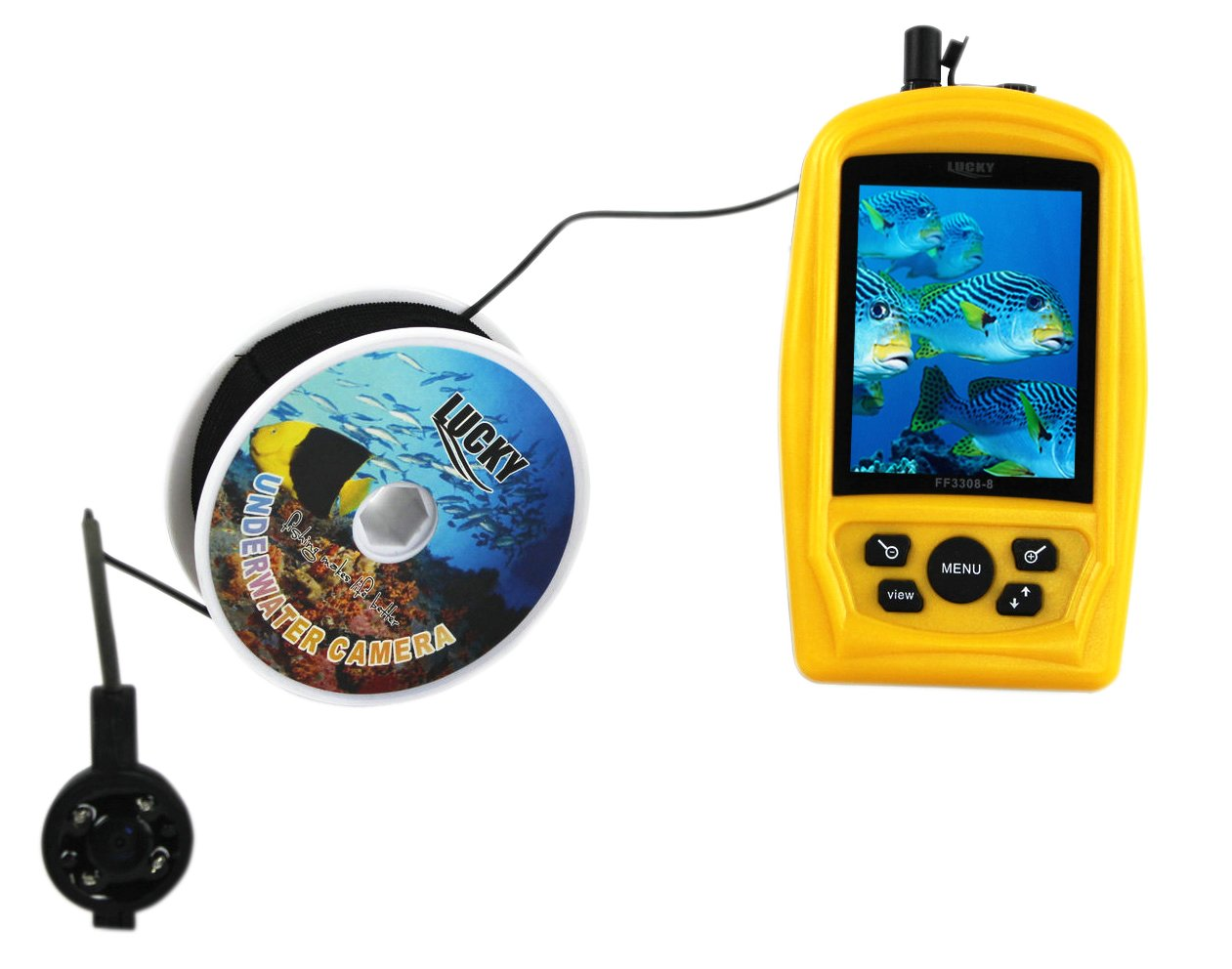 VECTORCOM Handheld Wired Fishfinder Fishing finder with underwater camera,20M camera cable.suitable for ice fishing. by VECTORCOM