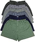 ToBeInStyle Men's Pack of 6 Classic Fit Tartan Plaid Boxers - Assorted - Medium