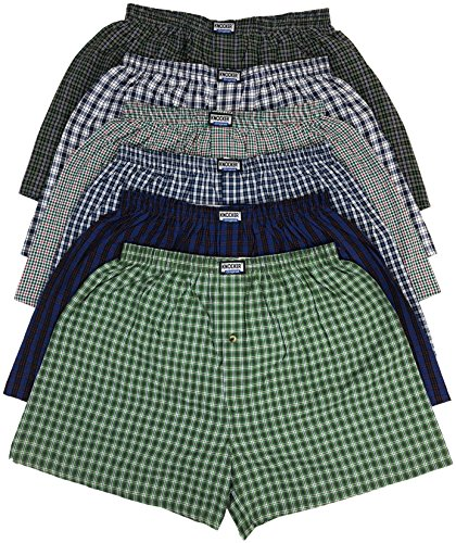 ToBeInStyle Men's Pack of 6 Classic Fit Tartan Plaid Boxers - Assorted - XL