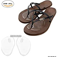 PEDIMEND Silicone Self Adhesive Sandal Protectors - Toe Guards Cushions - Self-Sticking & Re-Usable Metatarsal Cushions - Shock Absorber Pads - Prevent Foot Burning/Corns/Callus - Foot Care (1PAIR)