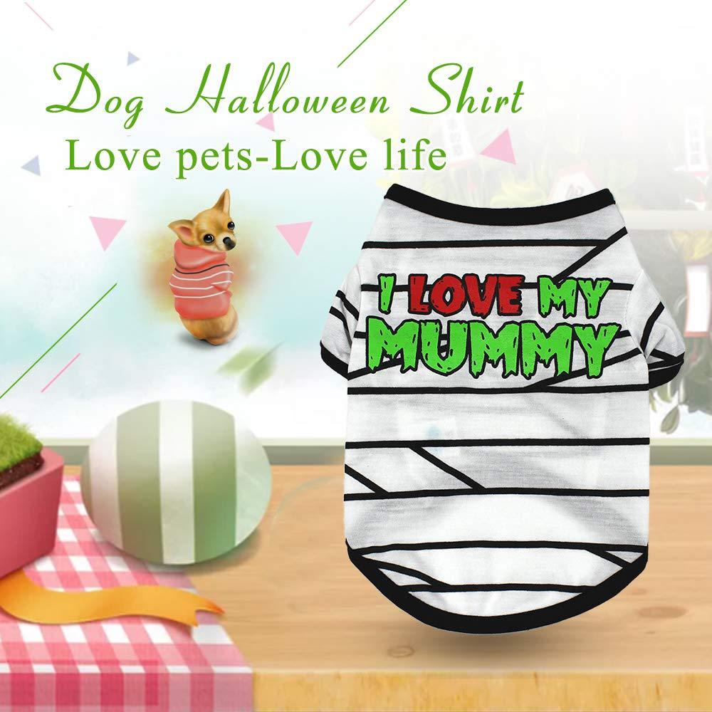 Dog Halloween T Shirts.Dog Halloween Shirt Pet T Shirt Dog Pet Clothes Pet Amazon In Electronics
