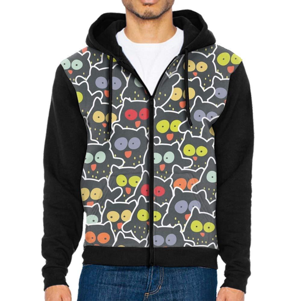 DORMA Unisex 3D Cute Cat Print Realistic Casual Long Sleeve Hoodie Pullover Sweatshirt
