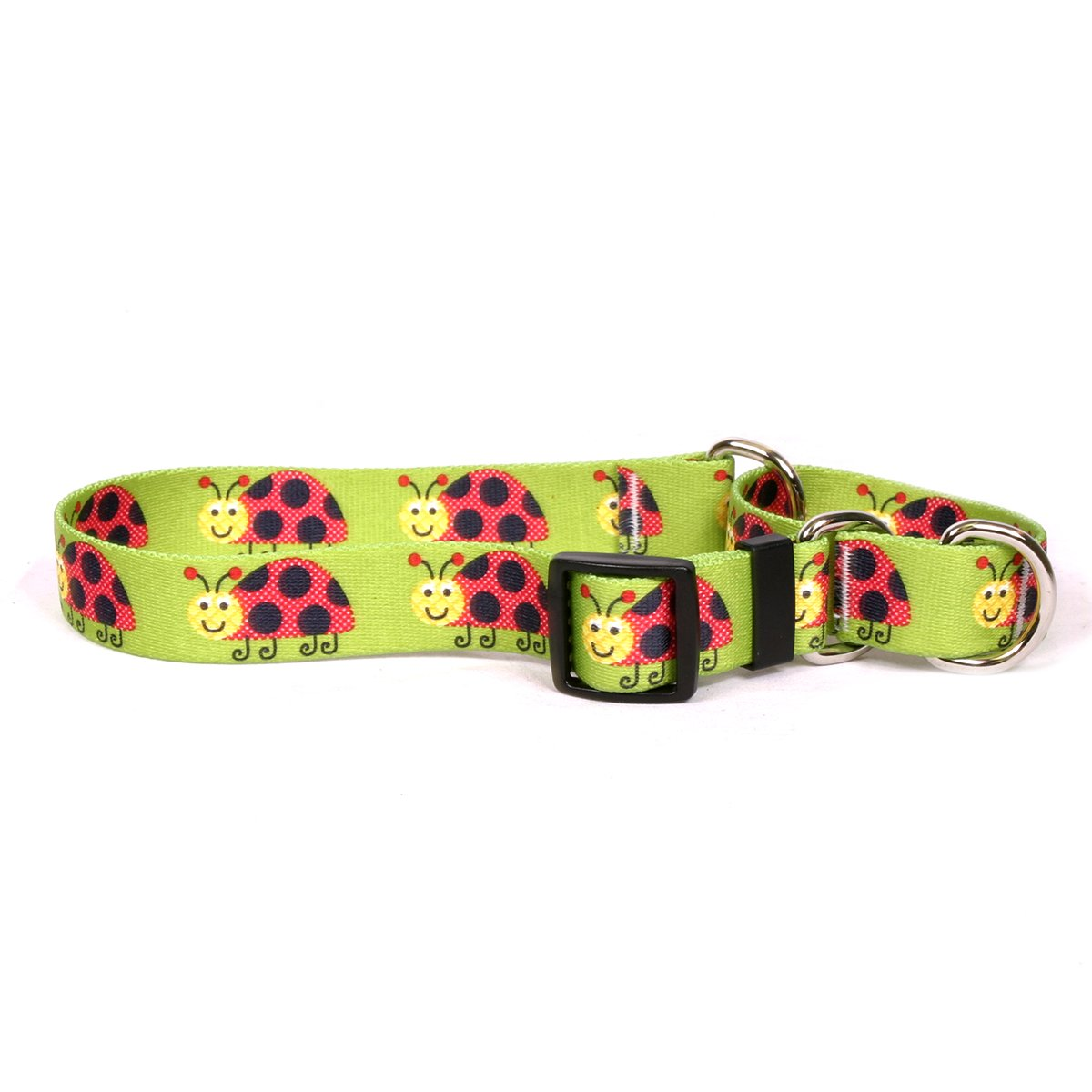 Yellow Dog Design Lovely Ladybugs Martingale Dog Collar 3/4'' Wide And Fits Neck 12 To 16'', Small