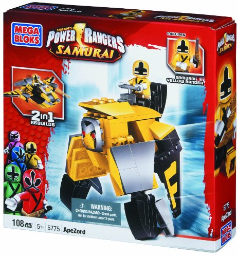 Mega Bloks Super Samurai Power Rangers Apezord with Yellow Samurai ()