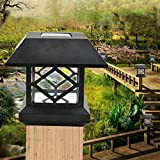 Zehui Outdoor Garden Solar LED Post Deck Cap Auto Sensor Fence Light Landscape Lamp Solar Fence Post Cap Lights Warm White Light