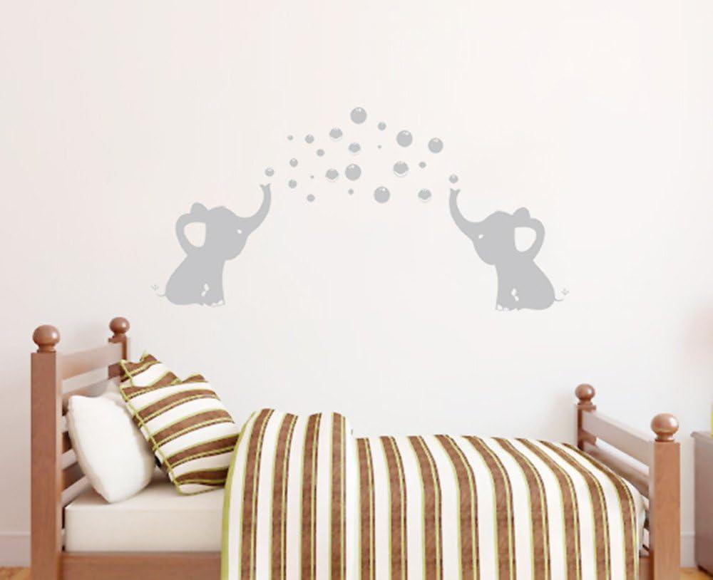 Elephant Bubbles Wall Decal Nursery Decor