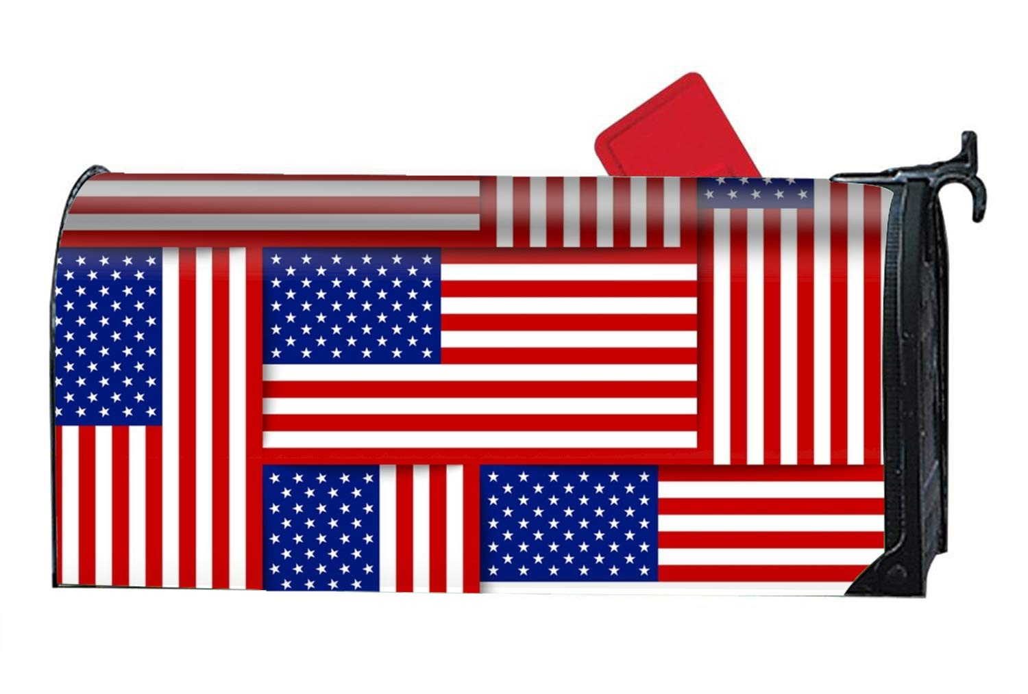 KSLIDS American Flag Mailbox Wrap Personalized Magnetic Mailbox Cover 9 x 21 inch