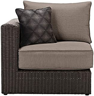 Naples Outdoor Sectional Pieces  LEFT ARM RIGHT ARM SECTIONAL CHAIR  BROWN  PUTTY. Amazon com   Naples Grey Wicker All Weather Patio Parson Chairs