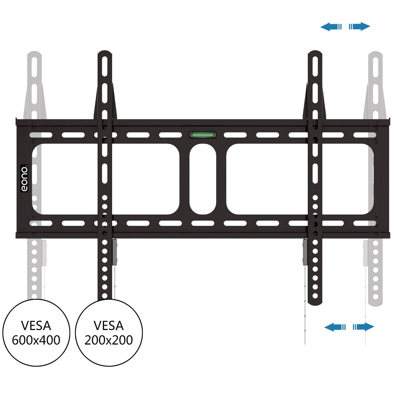 Brand VESA 600x400mm Eono Essentials 32-70 Fixed TV Wall Bracket 45KG Capacity Load