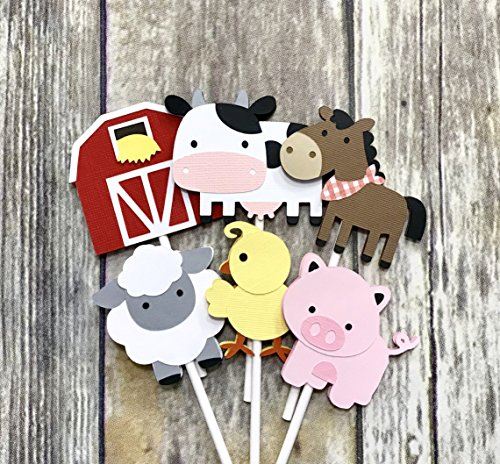 Farm Animal Cupcake Toppers Set of 12