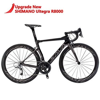 Carbon Fiber Bikes >> Savadeck Phantom 2 0 Carbon Fiber Road Bike 700c Racing Bicycle Shimano Ultegra 8000 22 Speed Group Set With Michelin 25c Tire And Fizik Saddle