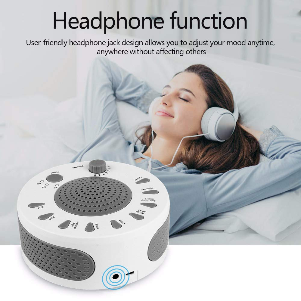 White Noise Machine,Maluokasa Baby Sound Therapy Machine with Featured 9 Scientific Soothing Natural Sounds for Kids, Sleep, Office, Relaxation, Support USB or Battery Powered