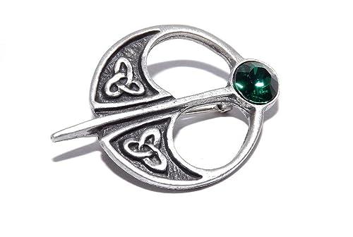 Verde capa Celtic/imperdible para falda escocesa broche con forma ...