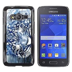 LECELL -- Funda protectora / Cubierta / Piel For Samsung Galaxy Ace 4 G313 SM-G313F -- Mountain Lion Puma Painting --