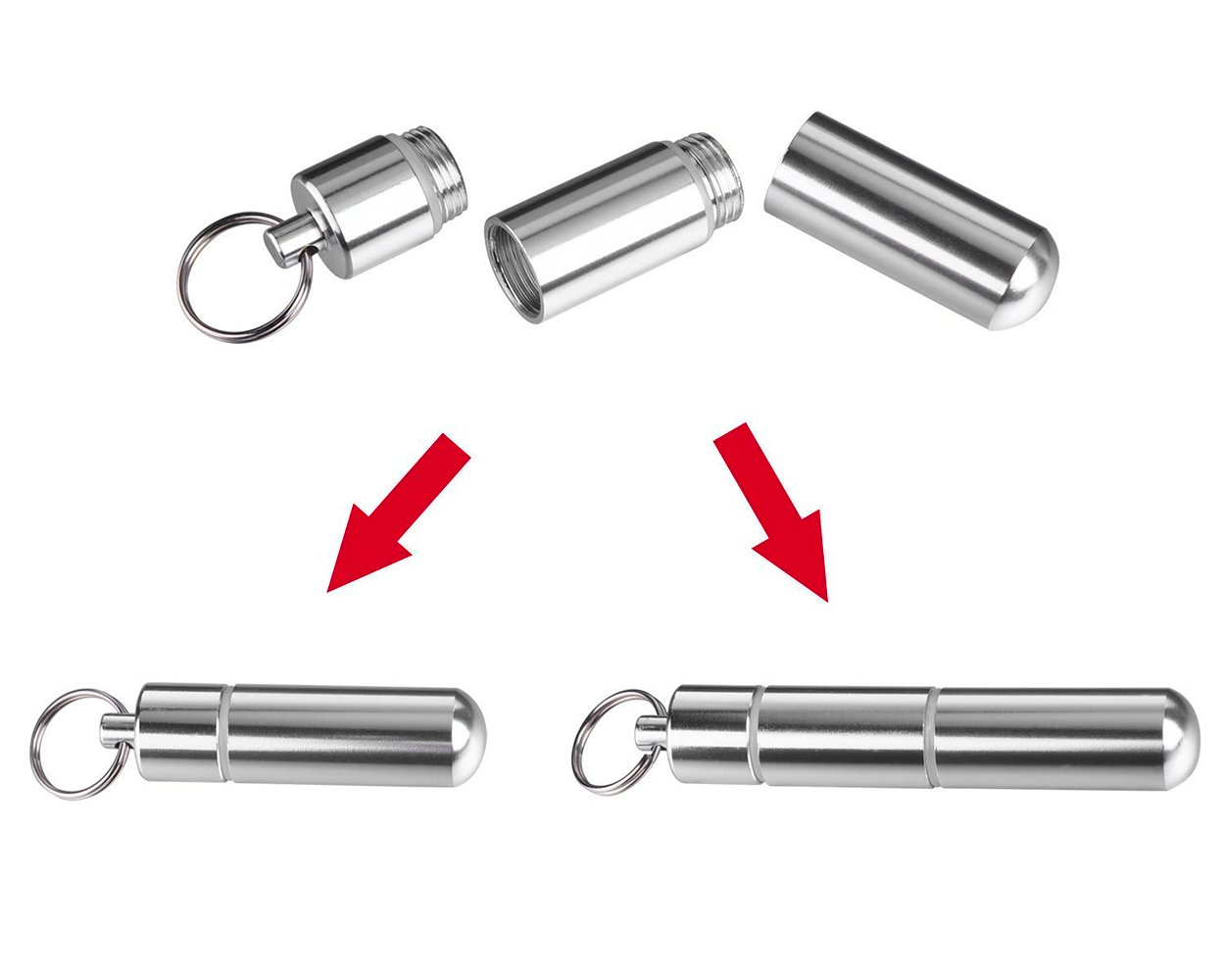 /Argent Anniversaire Business idear cadeau pour No/ël dsstyles portable M/étal Porte Cure Dents l/égers pour alliage daluminium Taille cure-dents Box Porte-cl/és/