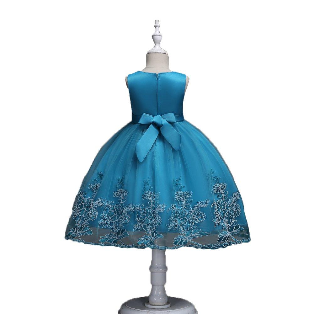 a44d78206 Amazon.com  Harelgrow Girls Lace Party Wedding Dresses Flower Girl ...