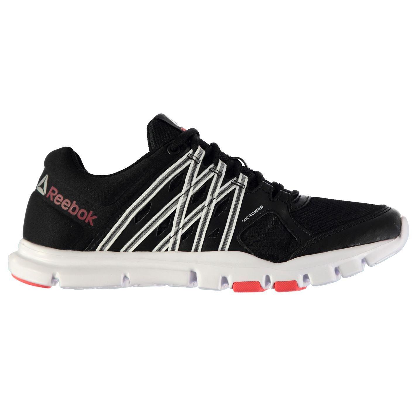 Reebok Yourflex Damen-Sportschuhe schwarz weiß kirsch Laufschuhe Turnschuhe