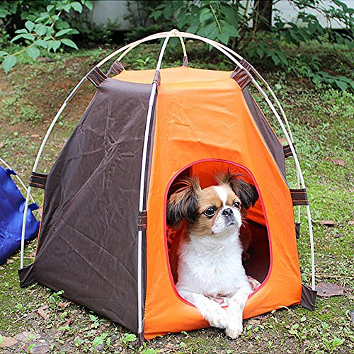 MaxFox Portable Waterproof Folding Pet Tent Dogs Cats Bed House Play Fun Oxford Pet Resting Bed for Indoor Outdoor Supplies