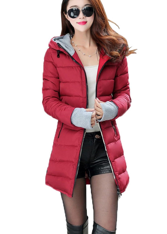 Smile YKK Fashion Kapuze Damen Winter Warme Steppjacke Winterjacken