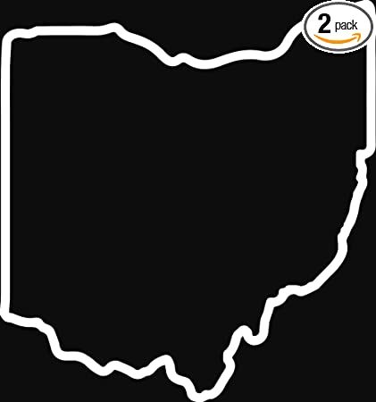Amazon Com Angdest Ohio Map Outline White Set Of 2 Premium