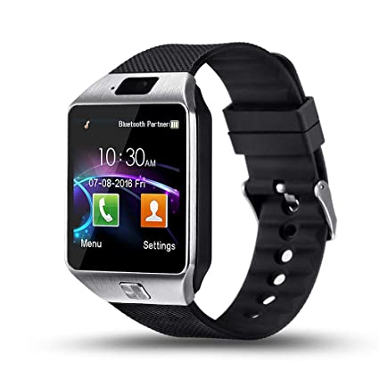YIIXIIYN Smart Watch DZ09 Touchscreen Bluetooth Smartwatch Phone Sports Fitness Tracker with SIM SD Card Slot Camera Pedometer Compatible iPhone iOS ...