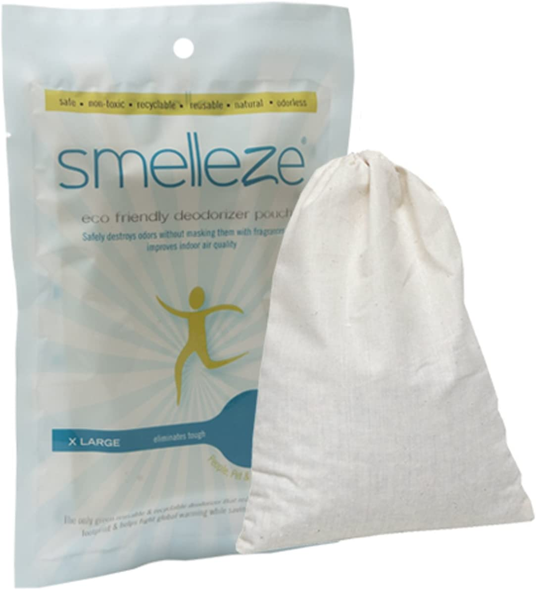 SMELLEZE Reusable Fridge Smell Removal Deodorizer Pouch: Eliminates Food Odor Without Chemicals