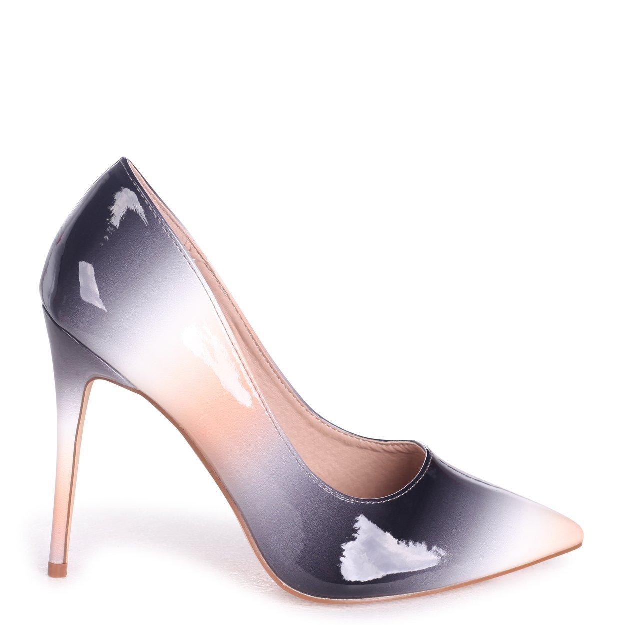 1854804432c Linzi Phoenix - Black Multi Ombre Effect Stiletto Court Heel: Amazon ...