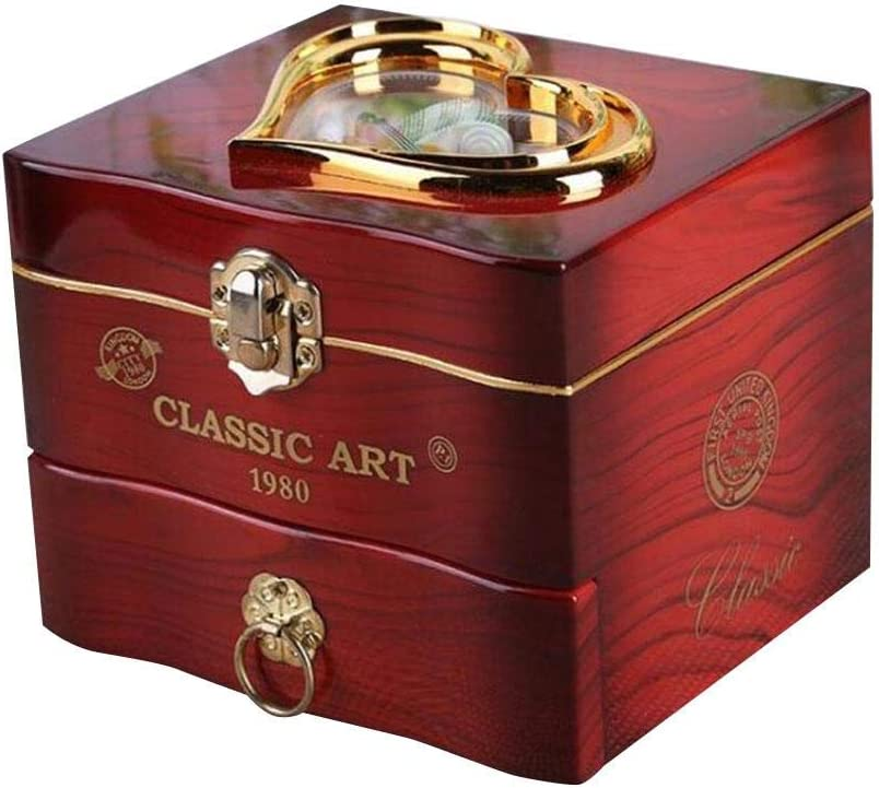 Innovadora Caja Musical Exquisita Caja De Joyas, Adorno De Bricolaje, para Regalo del Día De Fiesta De Cumpleaños, Bailarina Giratoria, 13 X 11.5 X 11cm