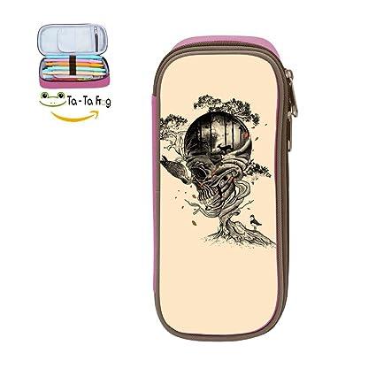Amazon Com Cute Large Capacity Cool Canvas Pencil Case Pen