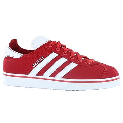ladies red adidas gazelle trainers