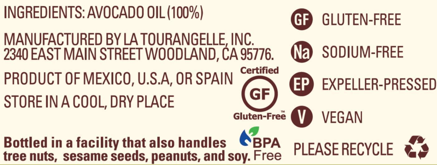 La Tourangelle Avocado Oil 8.45 Fl. Oz., All-Natural, Artisanal, Great for Salads, Fruit, Fish or Vegetables, Great Buttery Flavor by La Tourangelle (Image #3)