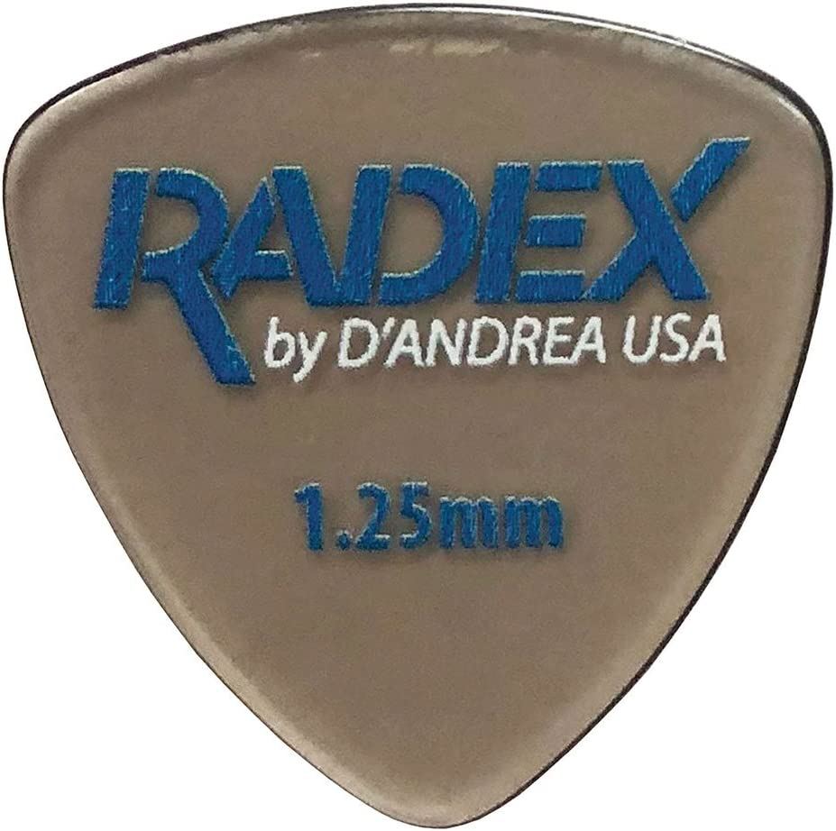 D/'Andrea Radex RDX 551 shape 1.00MM Guitar Picks 6 pack 2018 Smoke