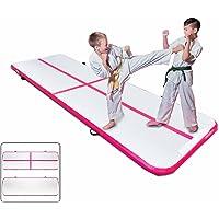 Popsport Gymnastics Tumbling Mats Series Tumbling Mat Gymnastics Mats Air Floor Mat for Gymnastics Training (3X0.9M,Pink)