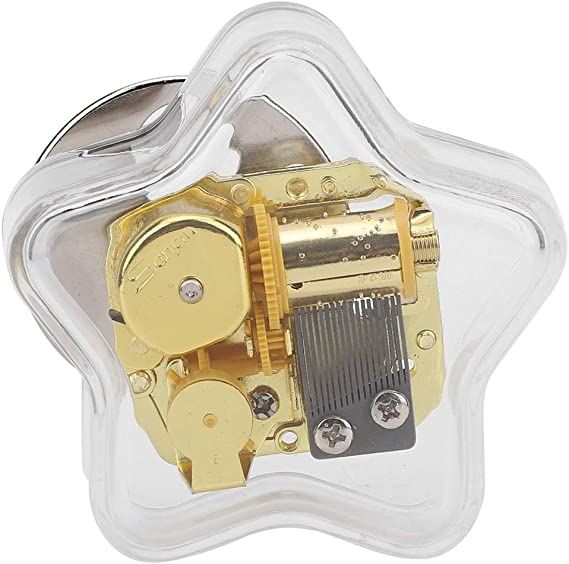 HEEPDD Caja de música, Estrella de Cinco Puntas Caja Musical de Cuerda Decoración de Escritorio para el hogar para niños Niña Novia Cumpleaños (Elfen Lied): Amazon.es: Hogar
