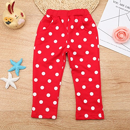 Baby Girl Clothes Infant Outfits Set 2 Pieces Long Sleeved Tops + Pants (2-3 T, Red) by MH-Lucky (Image #4)