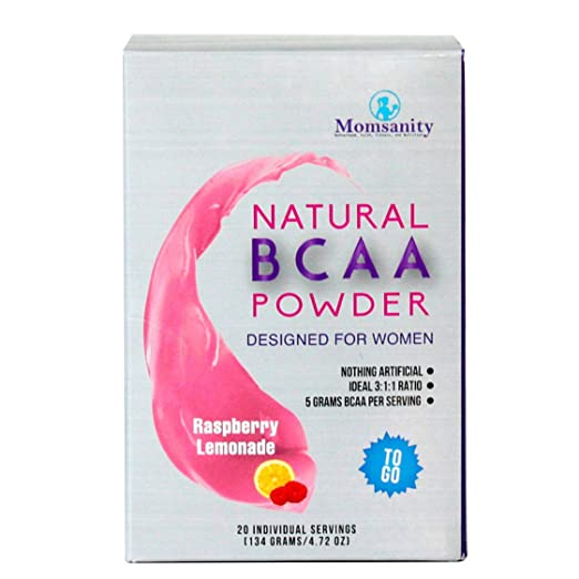 Natural BCAA Powder. Great Tasting Raspberry Lemonade Flavor. 20 Single Serving Stick Packs. Sweetened with Stevia, Erythritol, and Monk Fruit. Made by Women for Women. Free Recipe Guide Included. best BCAA powder
