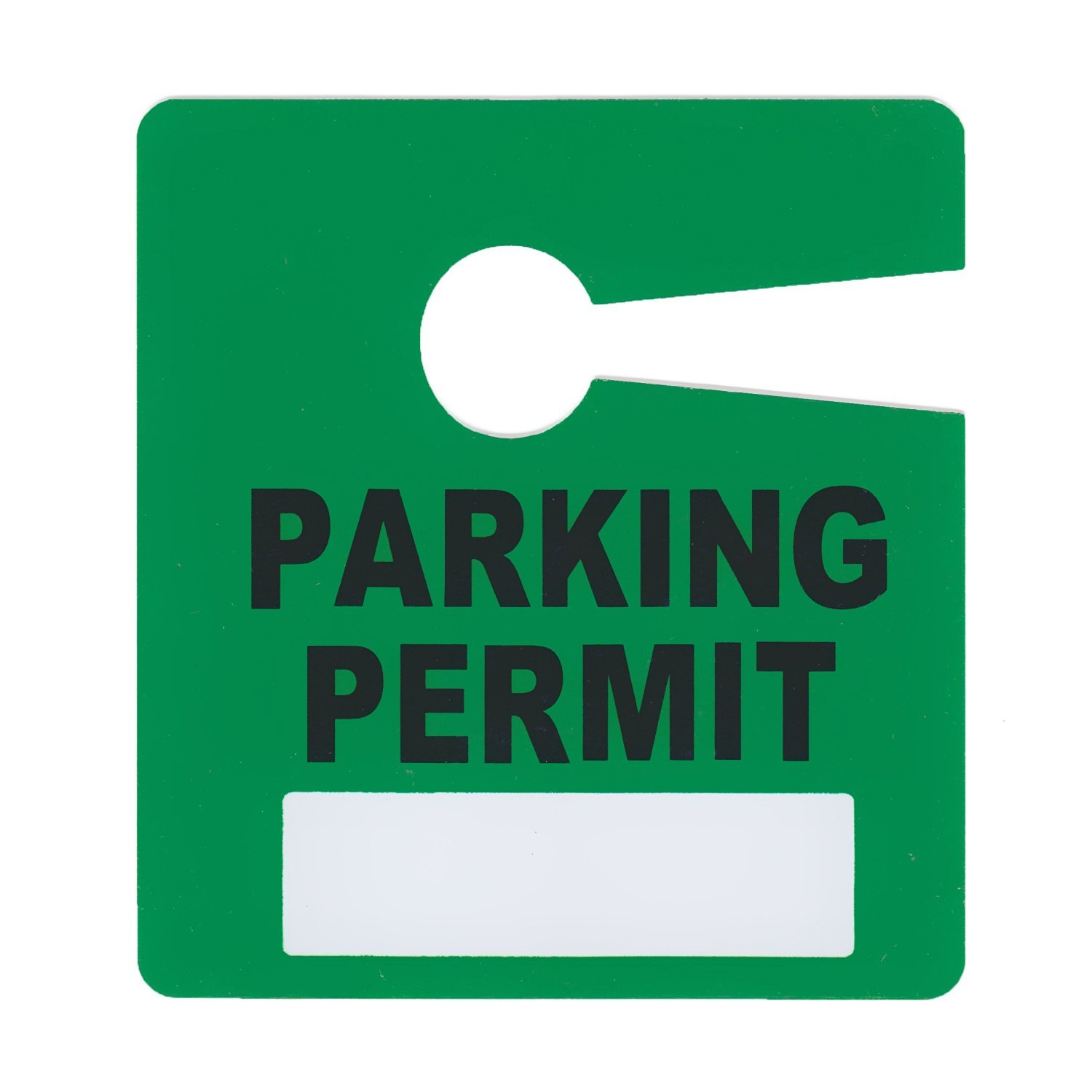 Parking Permit Pass Stock Hang Tags for Employees, Tenants, Students, Businesses, Office, Apartments, 10 Pack (Green)