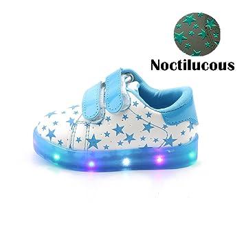 Kinderschuhe cm 13.3, Rosa 21 // Ma/ß Innen Chickwin Star Baby LED Kinderschuhe Unisex Weich Und Bequem Rutschfest Bunte LED-Leuchten Schuhe SportSchuhe Flashing Schuhe